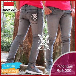 NAG202 Celana Jeans Panjang Pria Skiny Slimfit Melar Murah Bmgshop