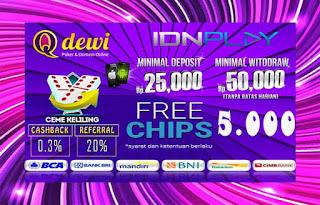 Bonus Free Chips Judi Ceme Keliling Online Server IDN Play QDewi.net
