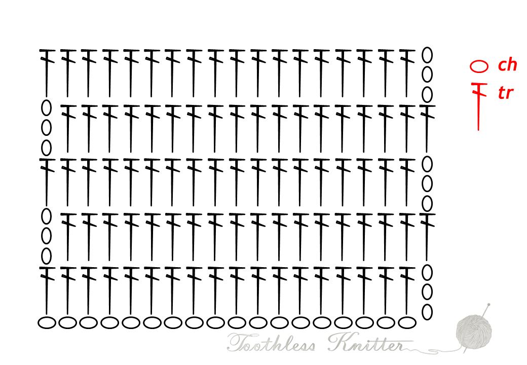 Treble Pattern / Słupek Zwykły Wzór