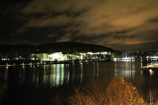 Jyväskylä by night illalla syksy