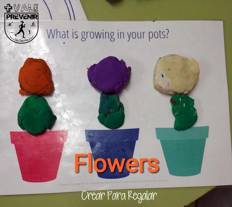 flores con plastilina