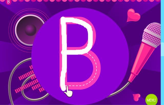 Treinando a escrita das letras através de jogo online