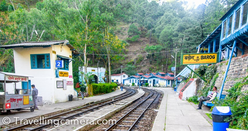 Barog is one of the most beautiful railway station on Kalka-Shimla railway track. Above photograph shows Barog railway station which is close to Solan town of Himachal Pradesh. What is special about this station is that it has guest house where you can book room through railways website. The place is surrounded by pine forest and place looks magical when surrounded by clouds.