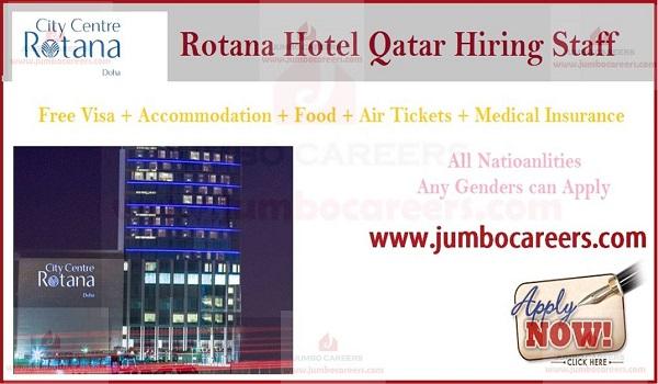 Qatar hotel jobs with accommodation, 5 star hotel jobs in Qatar,