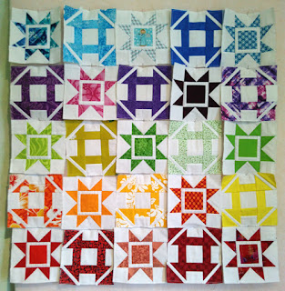 QAL Dashing quilt blocks row