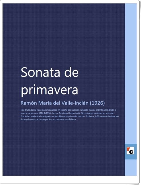 """""""Sonata de primavera"""" de Ramón María del Valle-Inclán"""