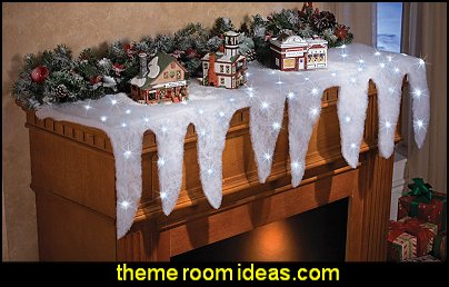 Lighted Icicle Mantel Scarf Holiday Decoration