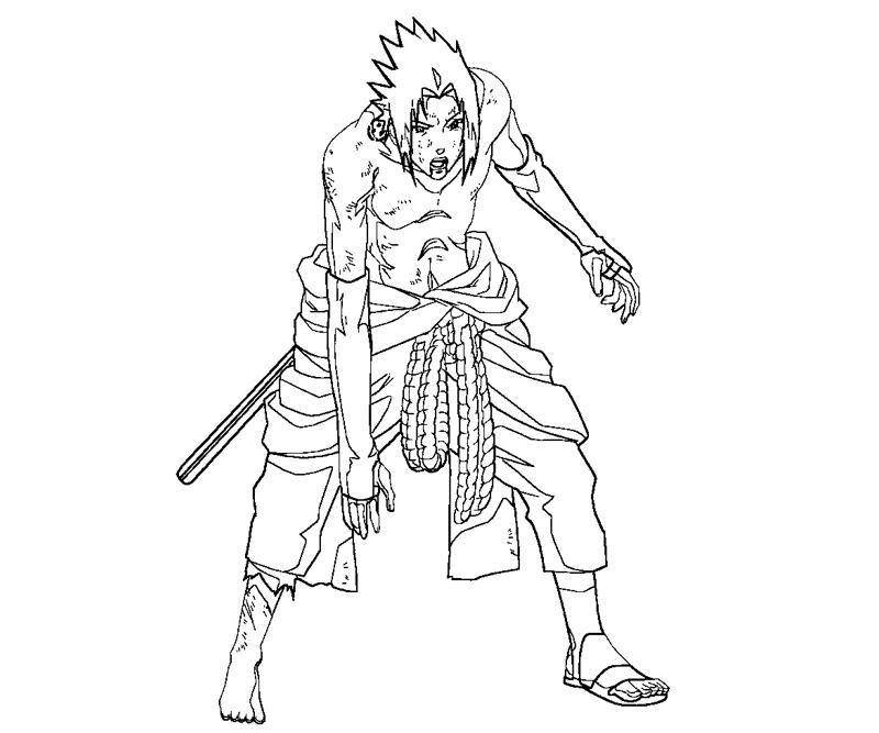 sasuke uchiha coloring pages - photo#22