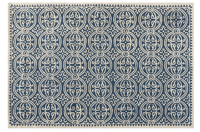 Blue and White Rug from Overstock | 20 Classic Style Rugs for Any Budget at www.andersonandgrant.com