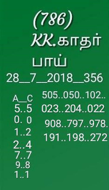karunya kr-356 on 28-07-2018 kerala lottery abc guessing by KK
