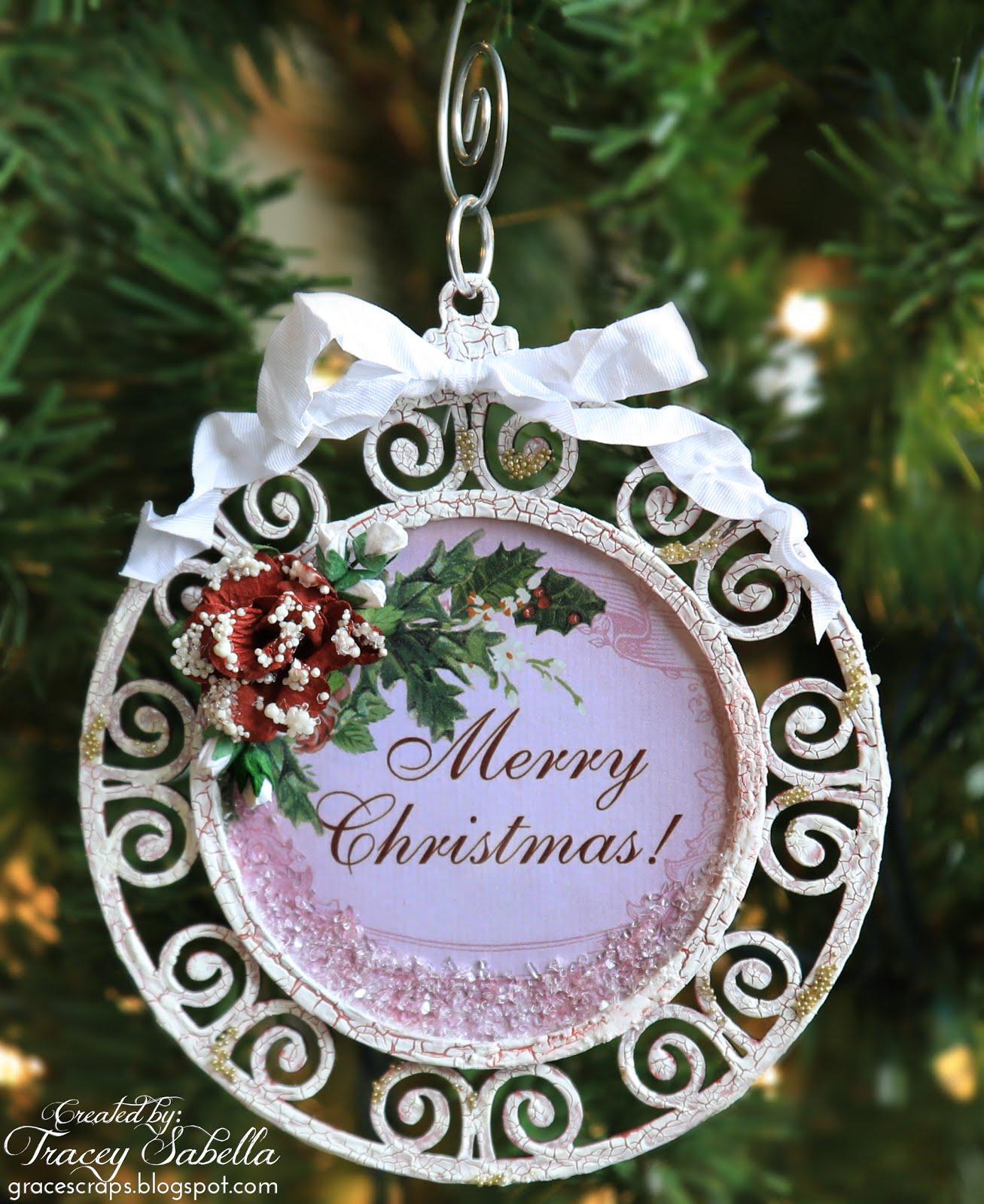"Merry Christmas Ornaments: Garden Of Grace: ""Merry Christmas"" Ornament For ScrapBerry's"