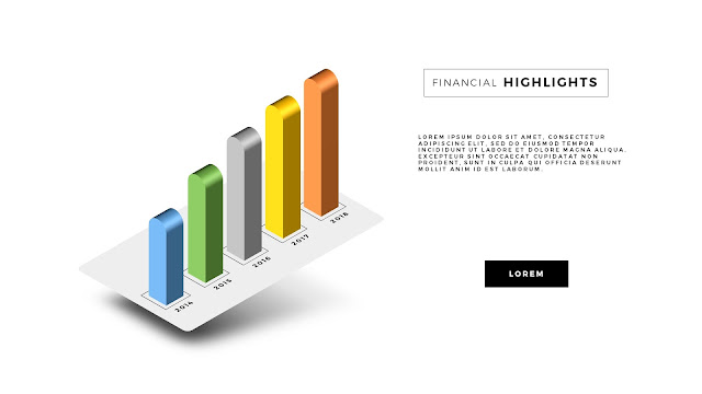 Free PowerPoint Template with Perspective Chart Effect Slide 4