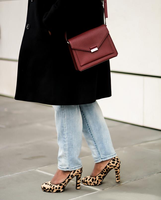 How to Wear Leopard Pumps Winter