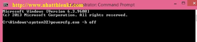 Hướng dẫn Xóa file hiberfil.sys và vô hiệu hóa chức năng Hibernate của Windows