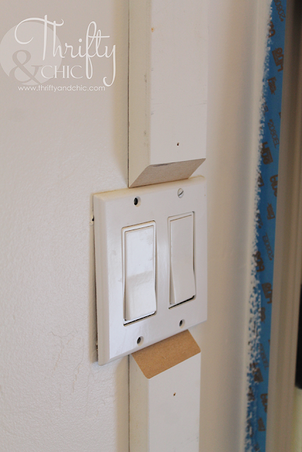 How to transition board and batten on a switch plate or existing molding