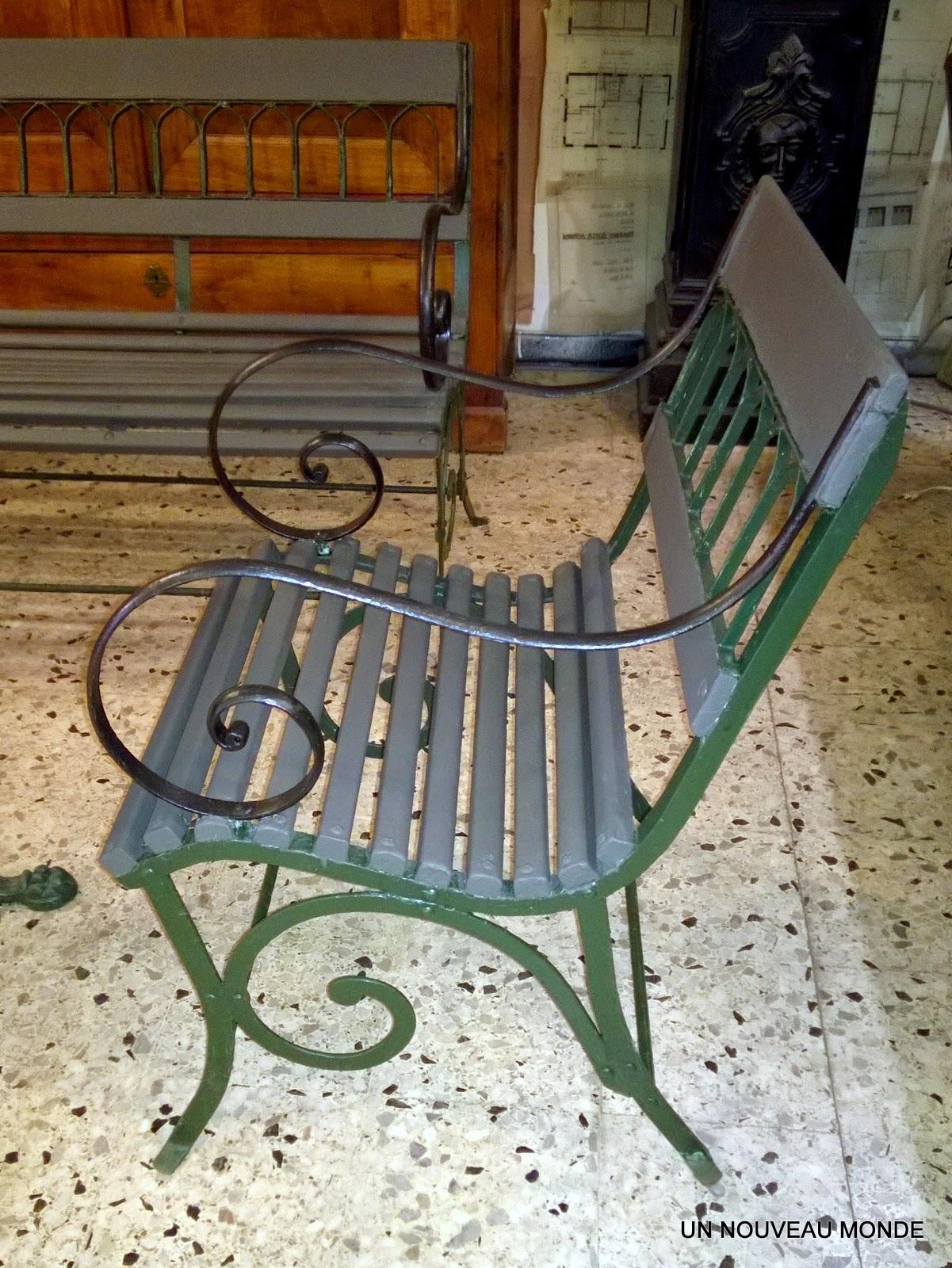 L\'Atelier de Philippe: Salon de jardin Charles X fer forgé et bois