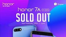 Honor 7A Harga Dan Spesifikasi Bikin Ngiler, Flash Sale 1000 Unit Habis Hanya 1 Menit