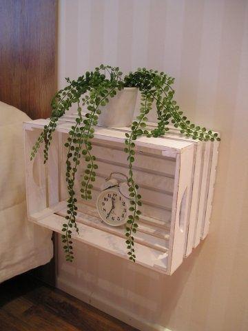 reutilizar caixotes de madeira quarto criado mudo