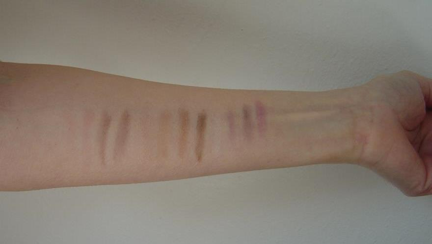 swatches of  3 NYC New York Color Individual Eyes Palettes.jpeg