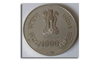 coins and more: Did you know series (5): 1000 rupee notes ...  Indian Rupee Coin 1000