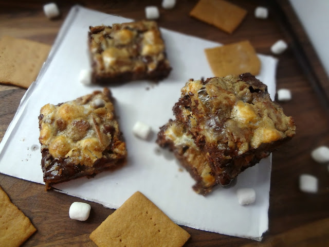 Brown Butter Gooey S'mores Bars