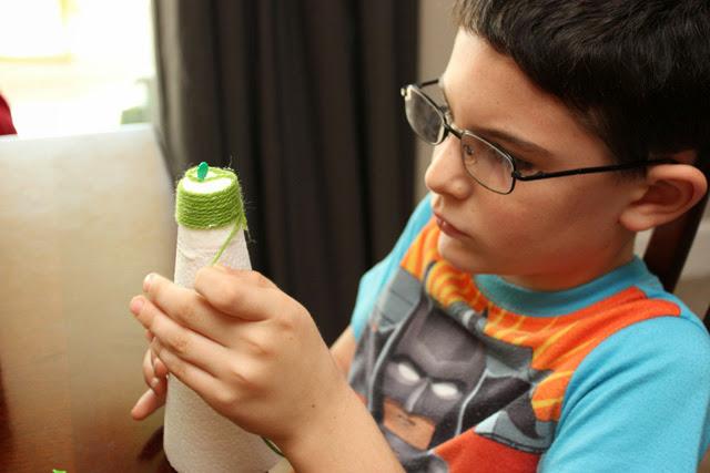 Wrapping+Yarn+Christmas+Trees Kids Craft: Yarn Wrapped Christmas Trees 18