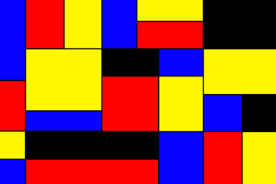 hasil akhir membuat wallpaper mondrian di photoshop