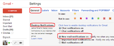 Enable New Email Notification for Gmail