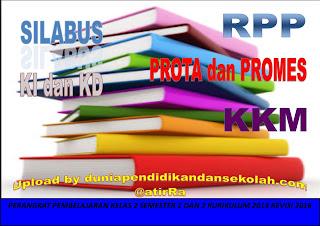 RPP KELAS 2 SEMESRTER 1 DAN 2 KURIKULUM 2013 EDISI REVISI 2016, PROTA DAN PROMES, KI DAN KD,SILABUS DAN KKM (DOWNLOAD)