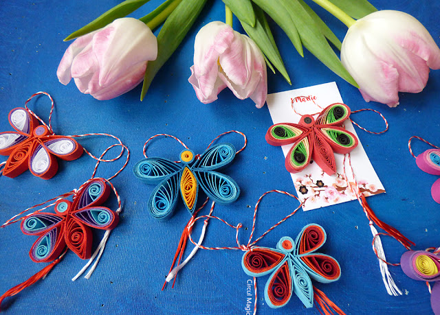 Martisoare Handmade Fluturas Quilling 2016 Circul Magic