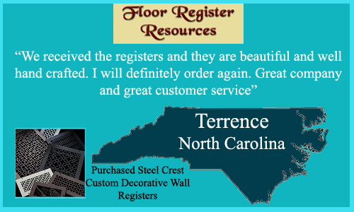 Terrence Love The Steel Crest Custom Decorative Wall Registers Purchased!  With 28 Different Decorative Designs And 15 Attractive Powder Coated  Finishes, ...