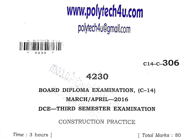 POLYTECHNIC CONSTRUCTION PRACTICE C-14 DCE PAPER 2016