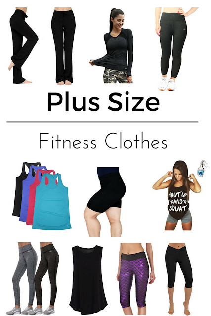 Plus size fitness clothes for women.
