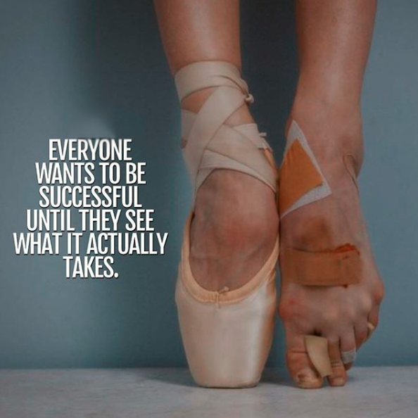 Everyone wants to be successful, until they see what it actually takes.