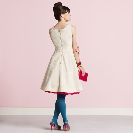Collant da sposa blu, blue colored bridal tights, Kate Spade