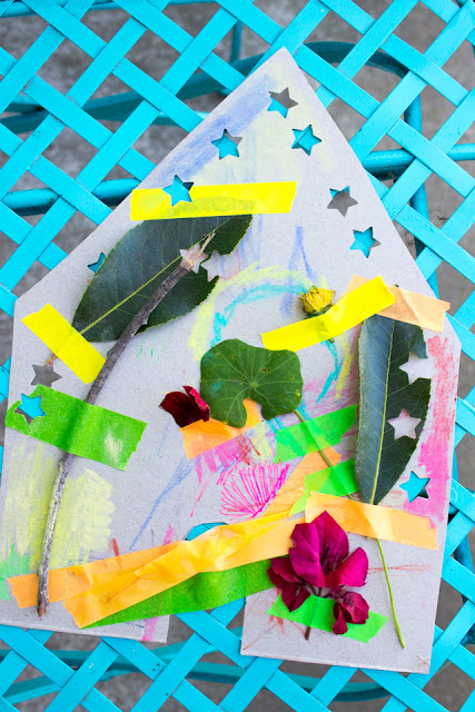 How to Make Cardboard Fairy Houses with Preschoolers- Super Easy, Low Prep, Recycled kids craft