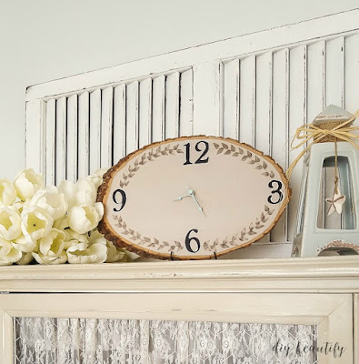 How to make a wood slice clock | diy beautify