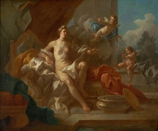 Venus and Cupid by Pierre Jacques Cazes, Classical mythology, Greek mythology, Roman mythology, mythological Art Paintings, Myths and Legends