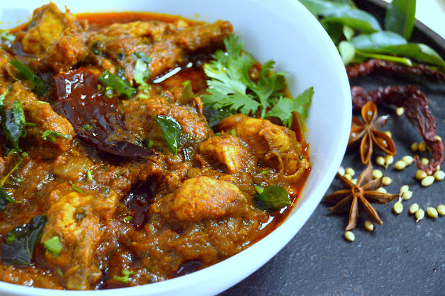 Chicken Chettinad ~  Chicken Curry
