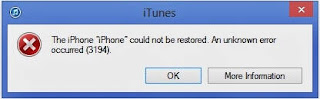 that you face while updating or restoring your iOS device How To Fix Error 3194 In iTunes