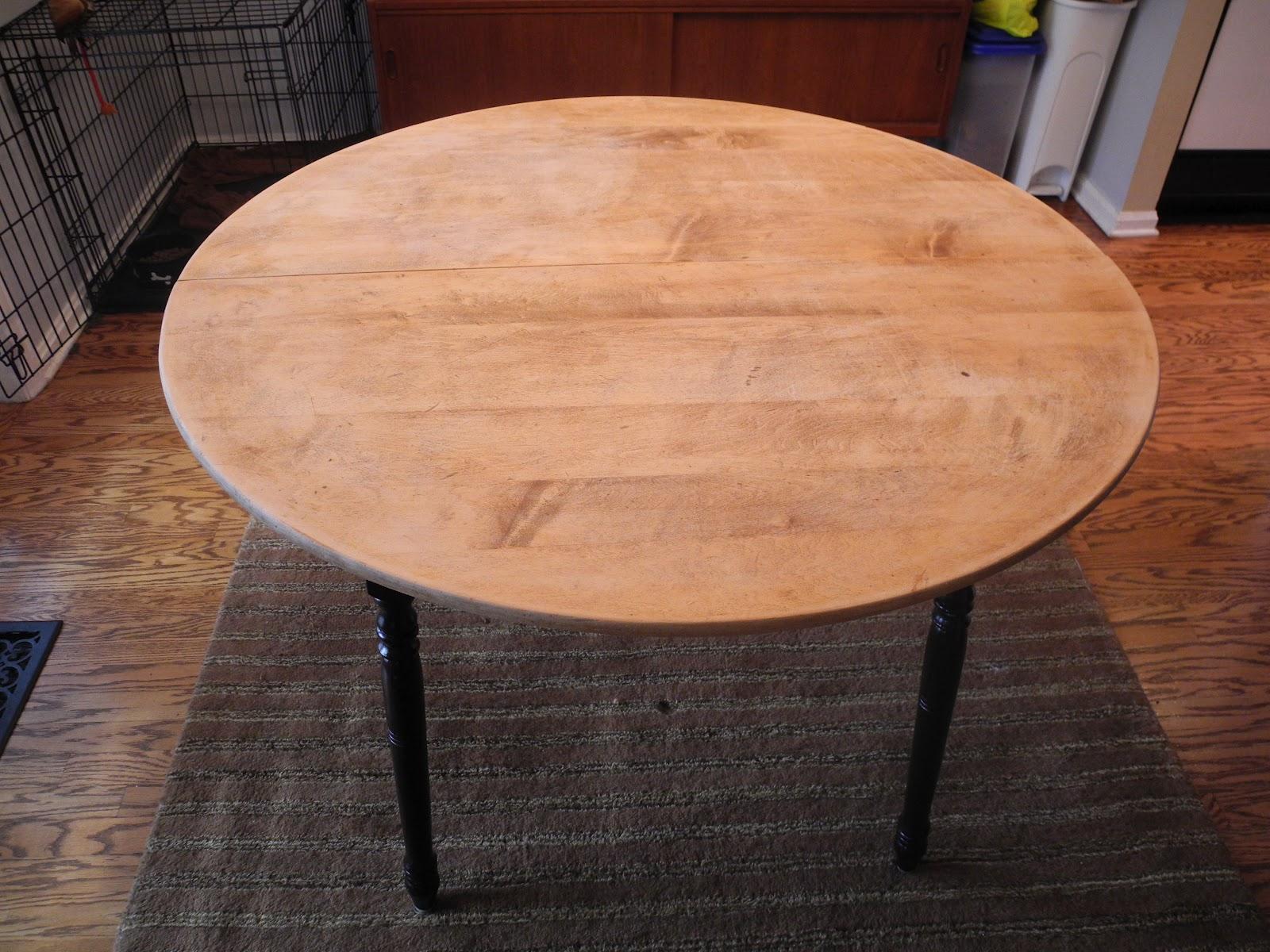Refinishing Wood Kitchen Table