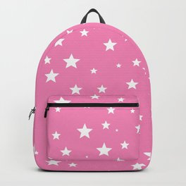 Scattered stars backpack in pink