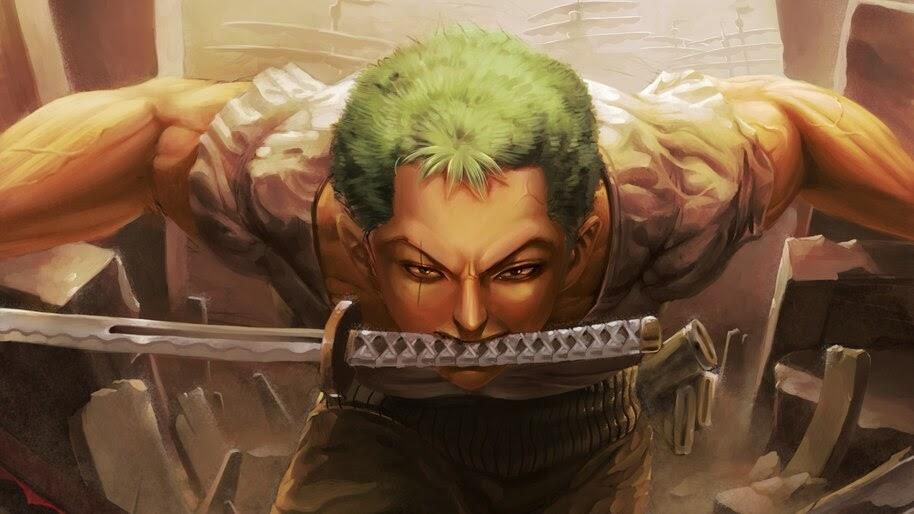 Roronoa Zoro, Katana, One Piece, 4K, #6.186