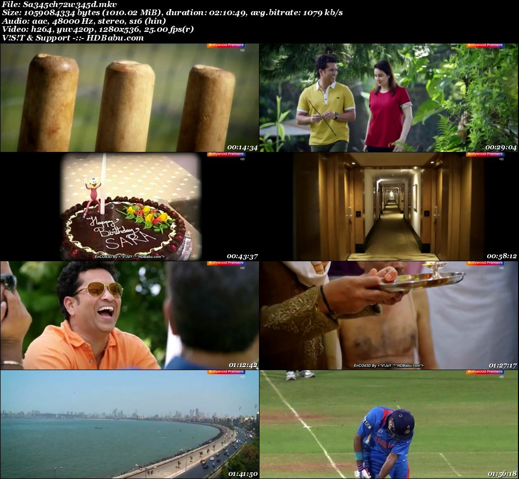 Sachin A Billion Dreams (2017) Hindi HDTV - 720p - x264 - AAC - 1GB Screenshot