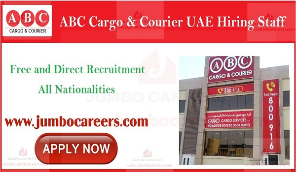 ABC Cargo and Courier UAE Latest Jobs Dubai - January 2019