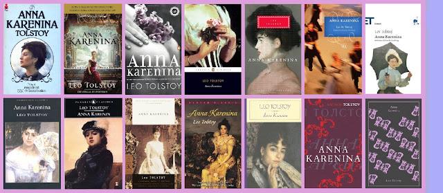 portadas del libro clásico Ana Karenina, de Leon Tolstoi