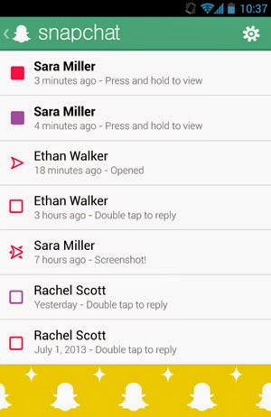 application smartphone snapchat