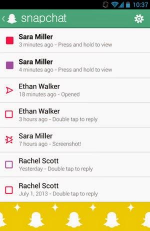 application smartphone snapchat