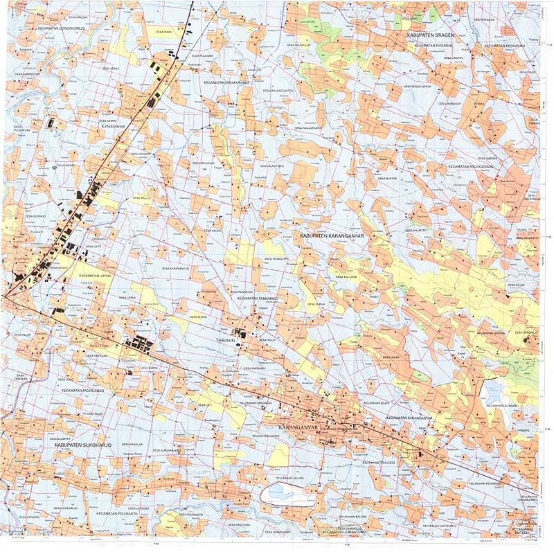 TAKJUB INDONESIA: Peta Topografi Karanganyar skala 25k