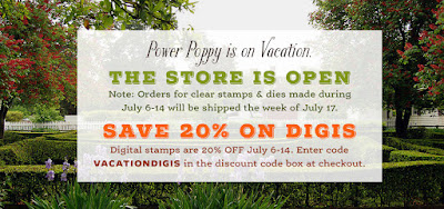 Power Poppy, VACATIONDIGIS, Sale 20%, July 6-14, 2017